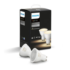 Philips Hue 2-Pack White Ambiance GU10 Dimmable LED Smart Spot Light