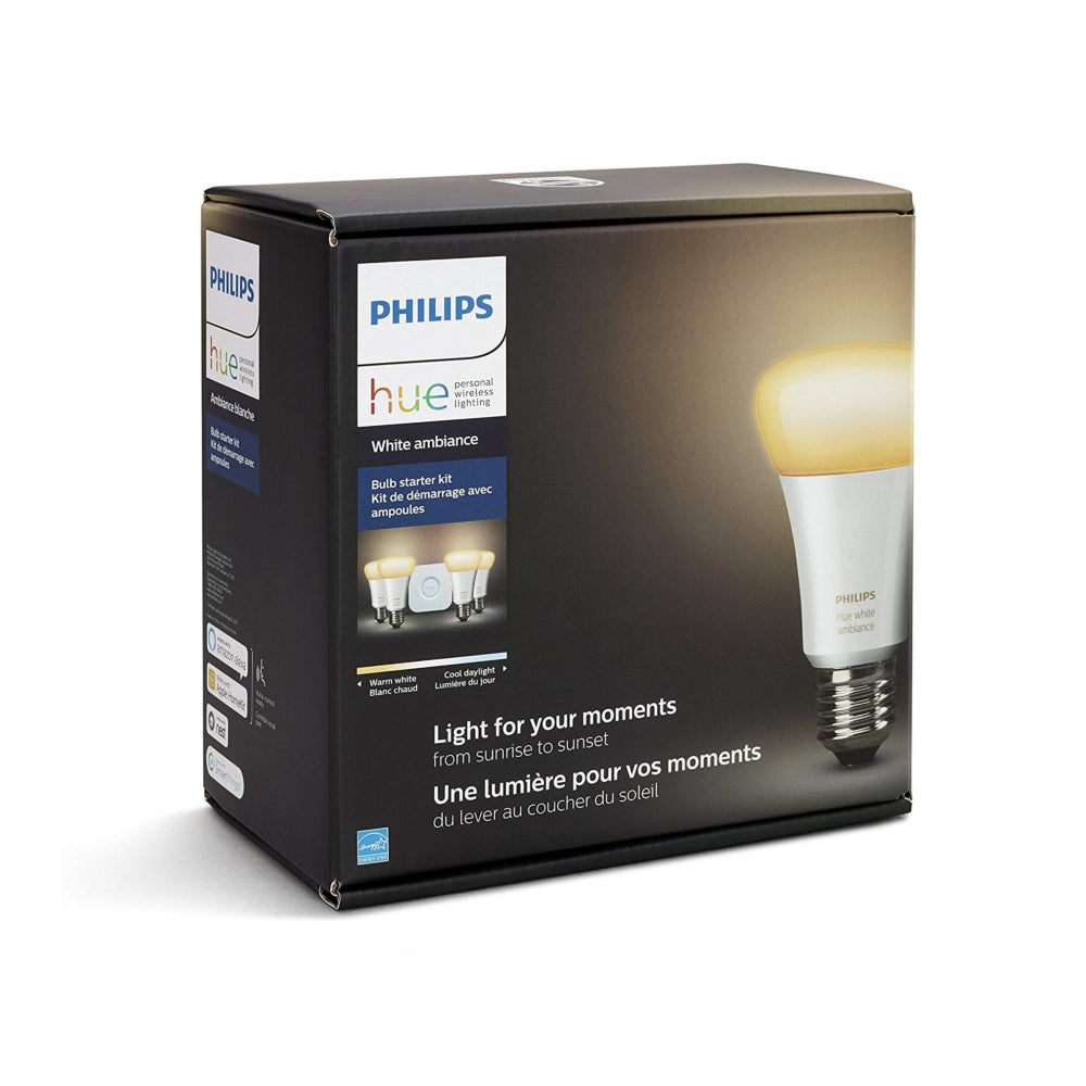Philips Hue Ambiance A19 Starter Kit 4 Pack
