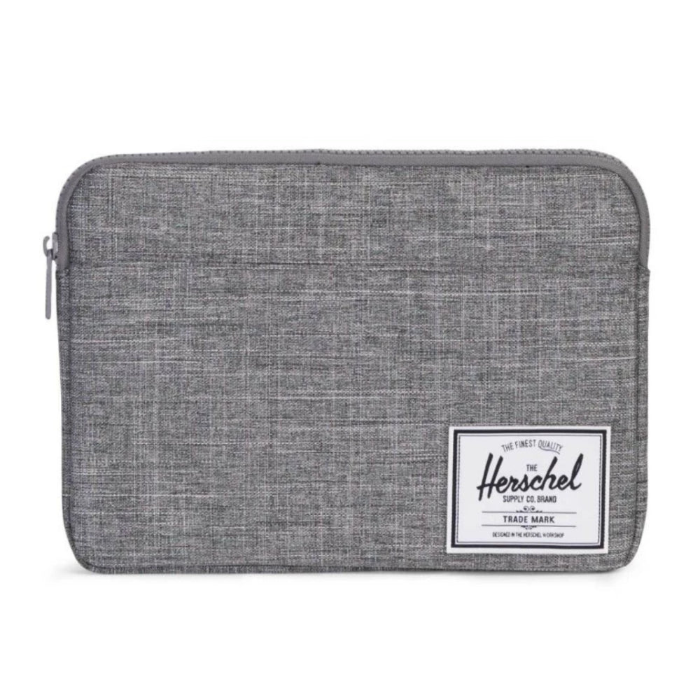 Herschel Anchor Sleeve 13 in. Raven Crosshatch