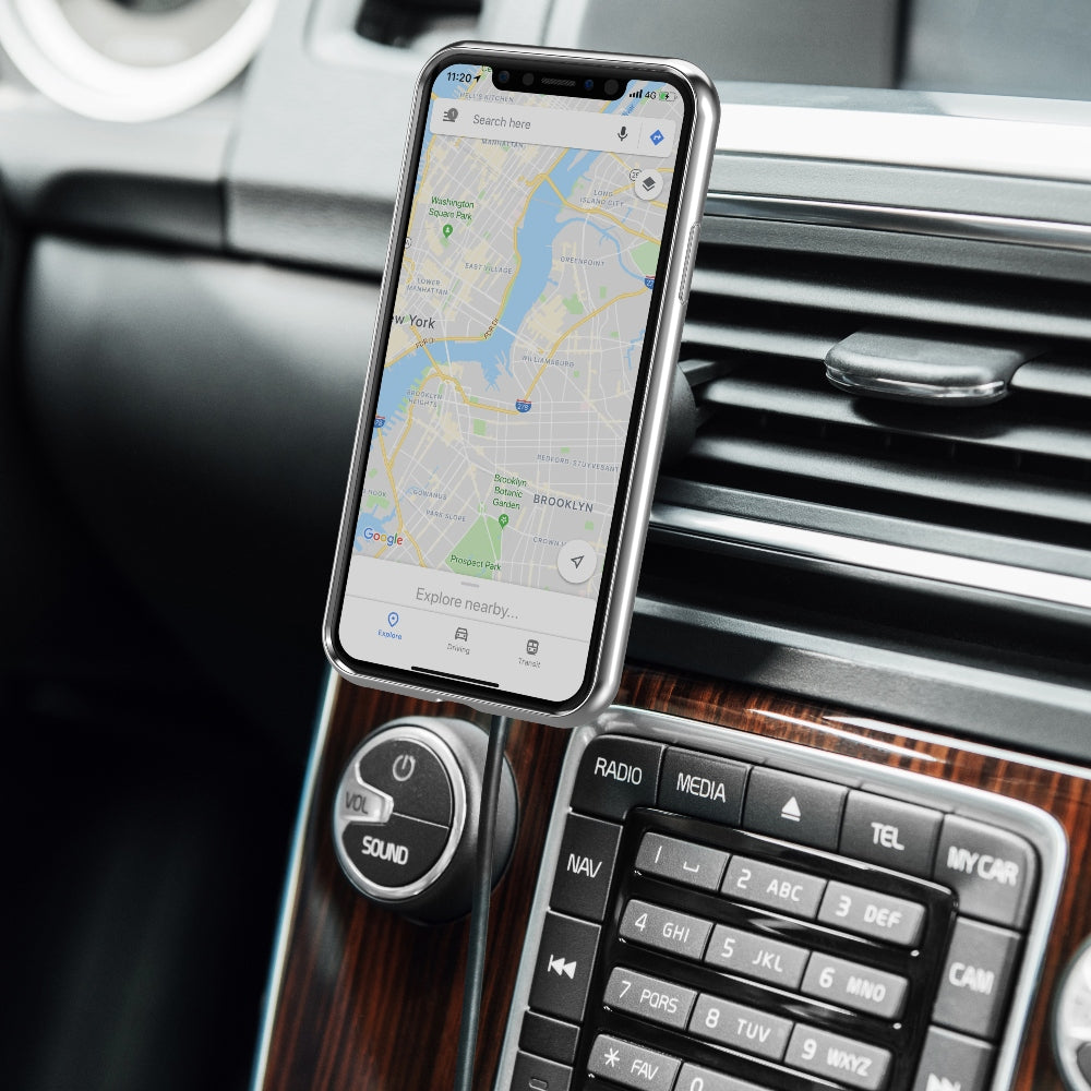 Moshi SnapTo Magnetic Car Mount with Wireless Charging