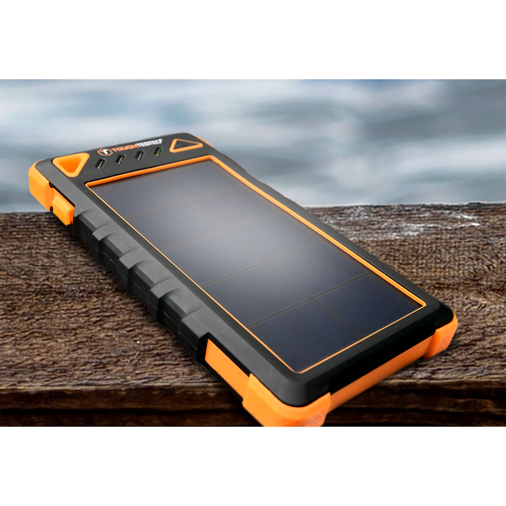 Tough Tested 8,000mAh Solar Power Bank With Flashlight