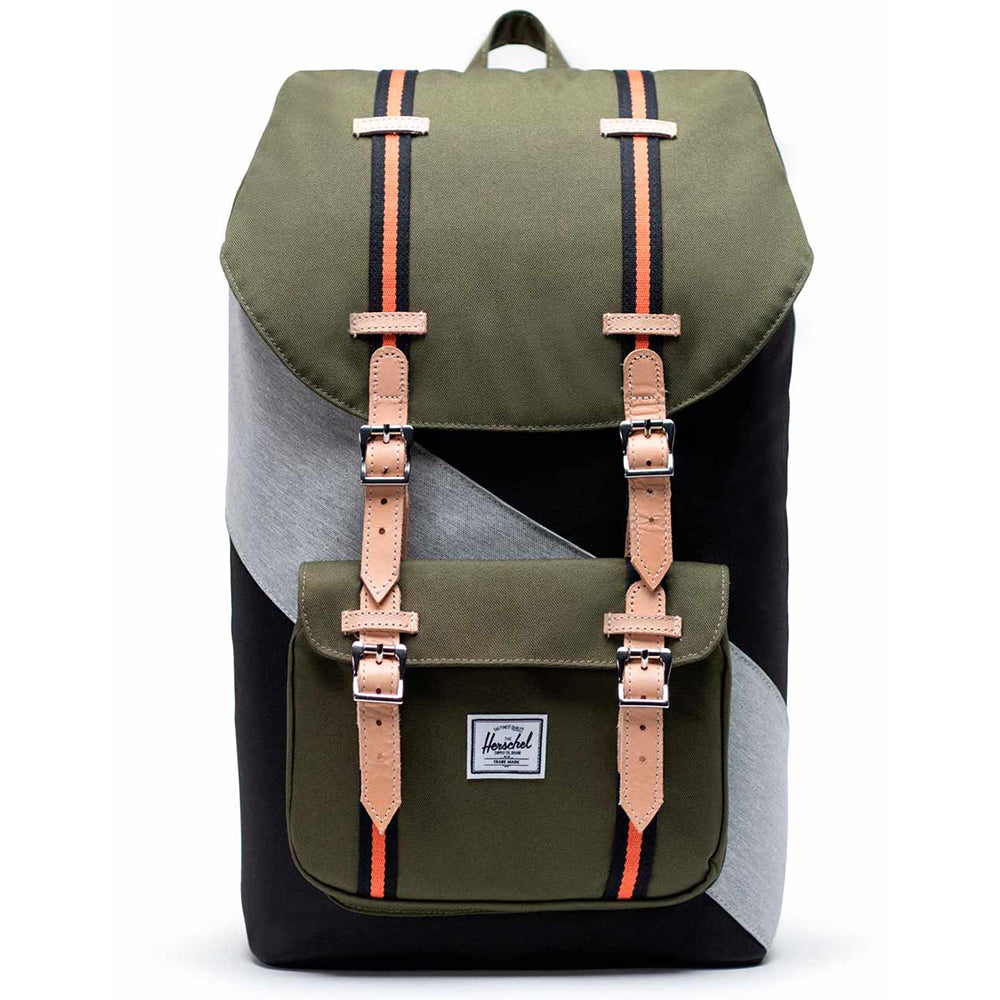 Herschel Little America 600D Poly - Black/Ivy Green/Light Grey Crosshatch