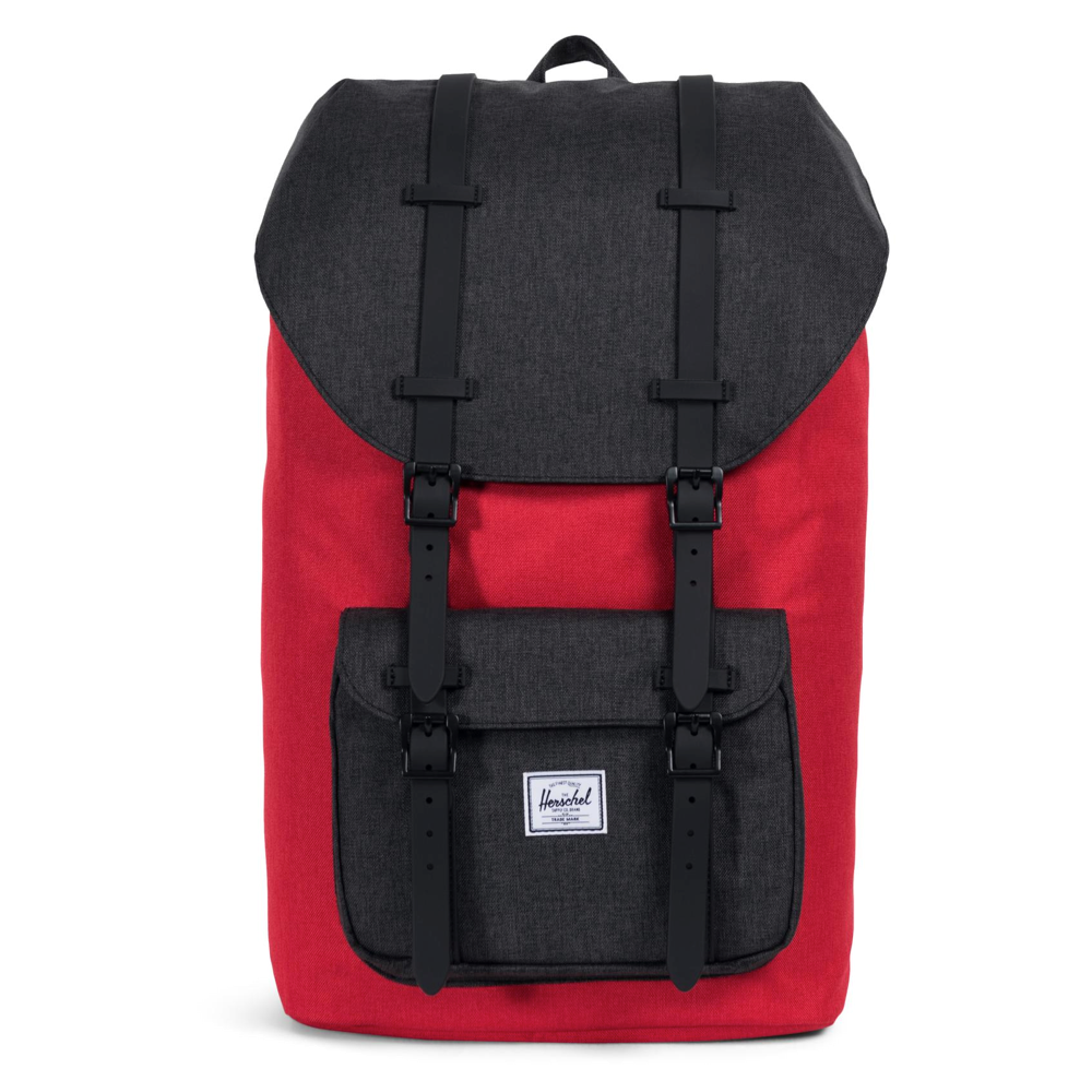 Herschel Little America Backpack Barbados Cherry Crosshatch/Black Crosshatch