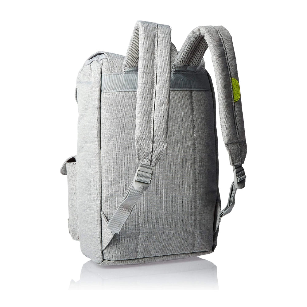 Herschel Dawson Backpack Light Grey Crosshatch Acid Lime