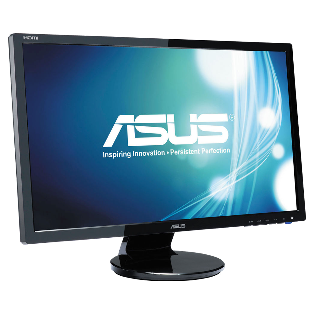 ASUS VE247H Monitor, 24-inch FHD (1920x1080), 2ms, HDMI, DVI-D, D-Sub, Speakers