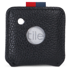 Herschel Key Chain | Tile Black Pebbled Leather