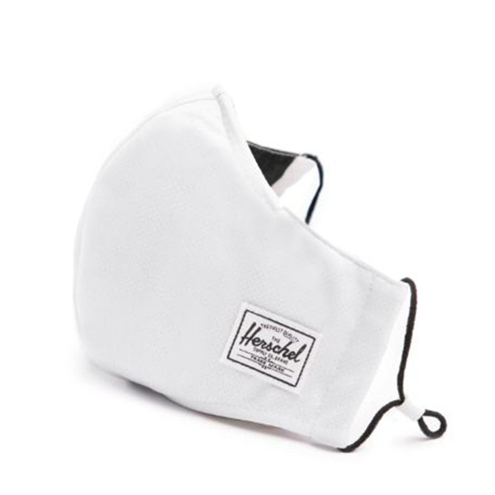 Herschel Classic Fitted Face Mask - White