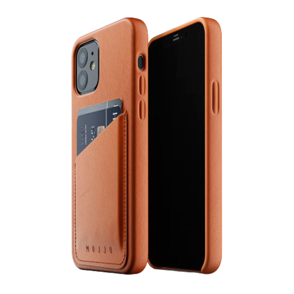Mujjo Full Leather Wallet Case for iPhone 12/iPhone 12 Pro