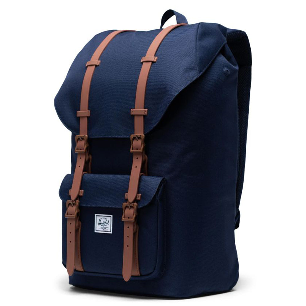 Herschel Little America 600D Poly - Peacoat/Saddle Brown