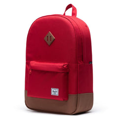 Herschel Heritage 600D Poly - Red/Saddle Brown