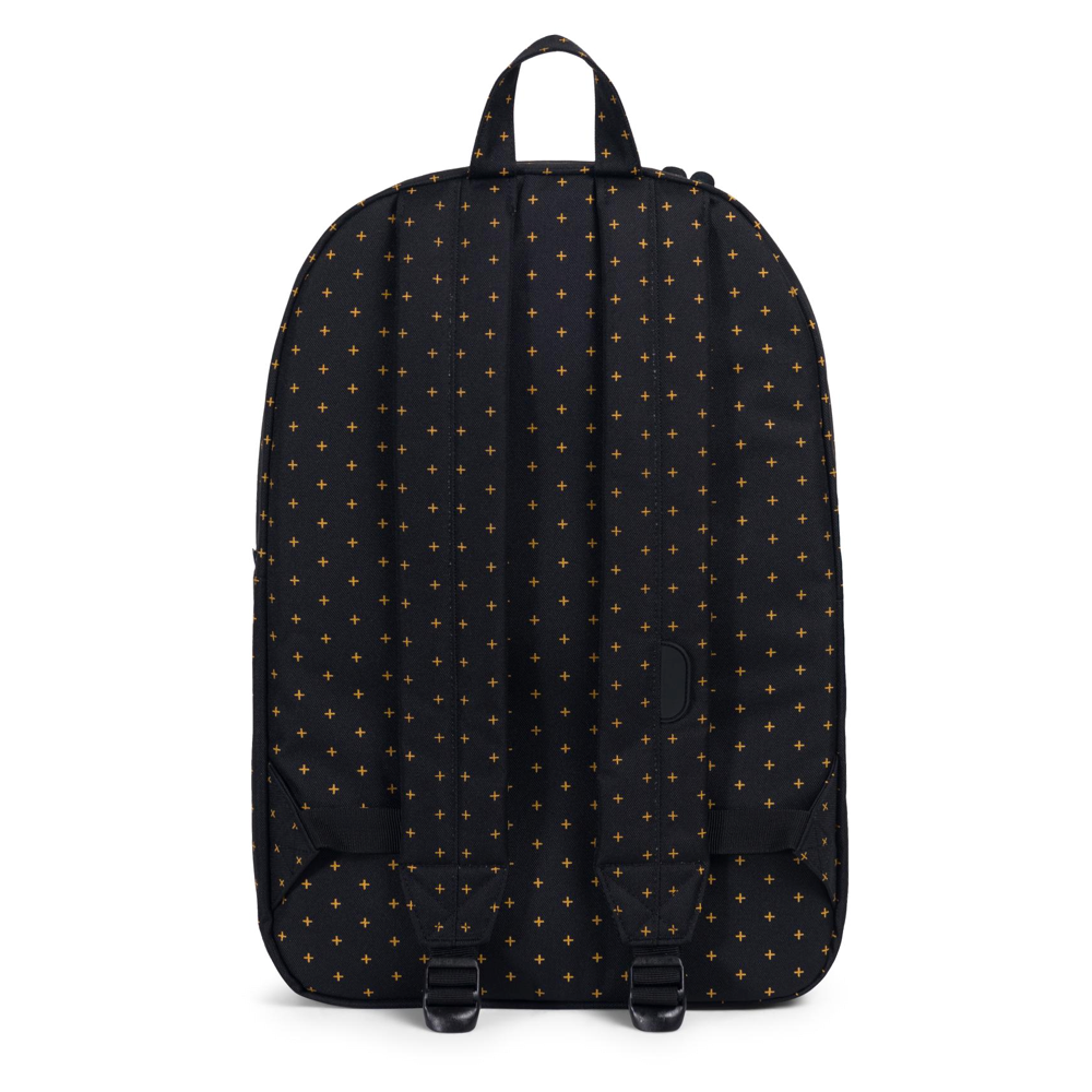 Herschel Heritage Backpack Black Gridlock Gold