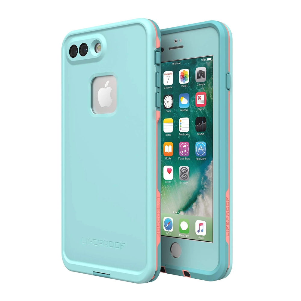 Lifeproof FRĒ Series Waterproof Case for iPhone 8 Plus/7 Plus Coral/Blue