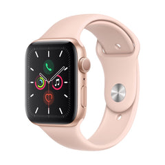 Apple Watch Series 5 Gold Aluminum Case with Pink Sand Sport Band