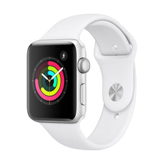 Apple Watch Series 3 Silver Aluminum Case with White Sport Band