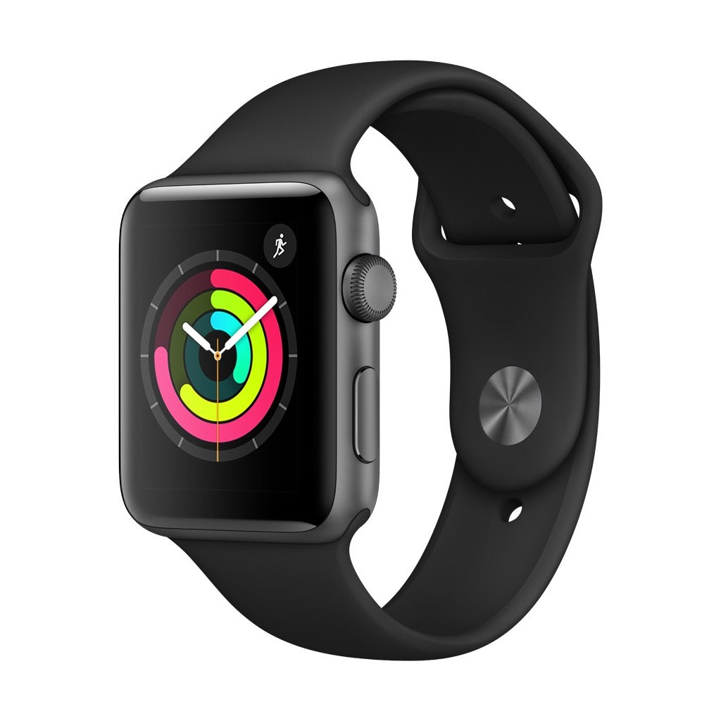 Apple Watch Series 3 Space Grey Aluminum Case with Black Sport Band