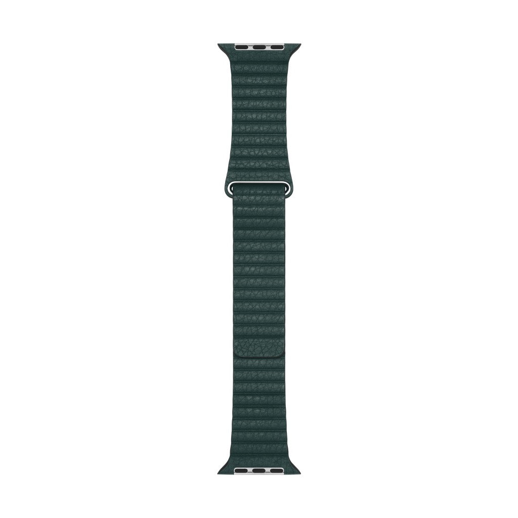 Apple Watch Forest Green Leather Loop