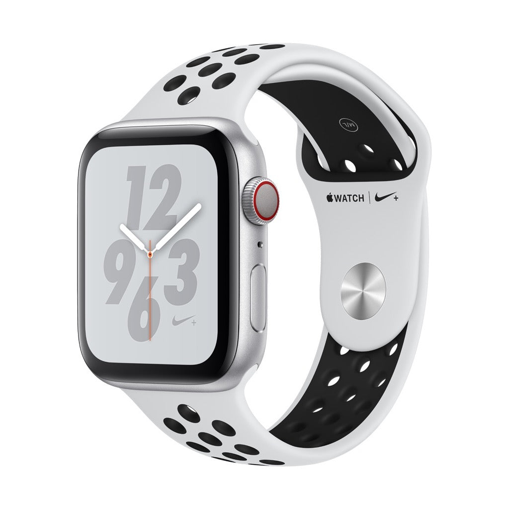 Apple Watch Nike+ Series 4 Silver Aluminum Case with Pure Platinum & Black Nike Sport Band