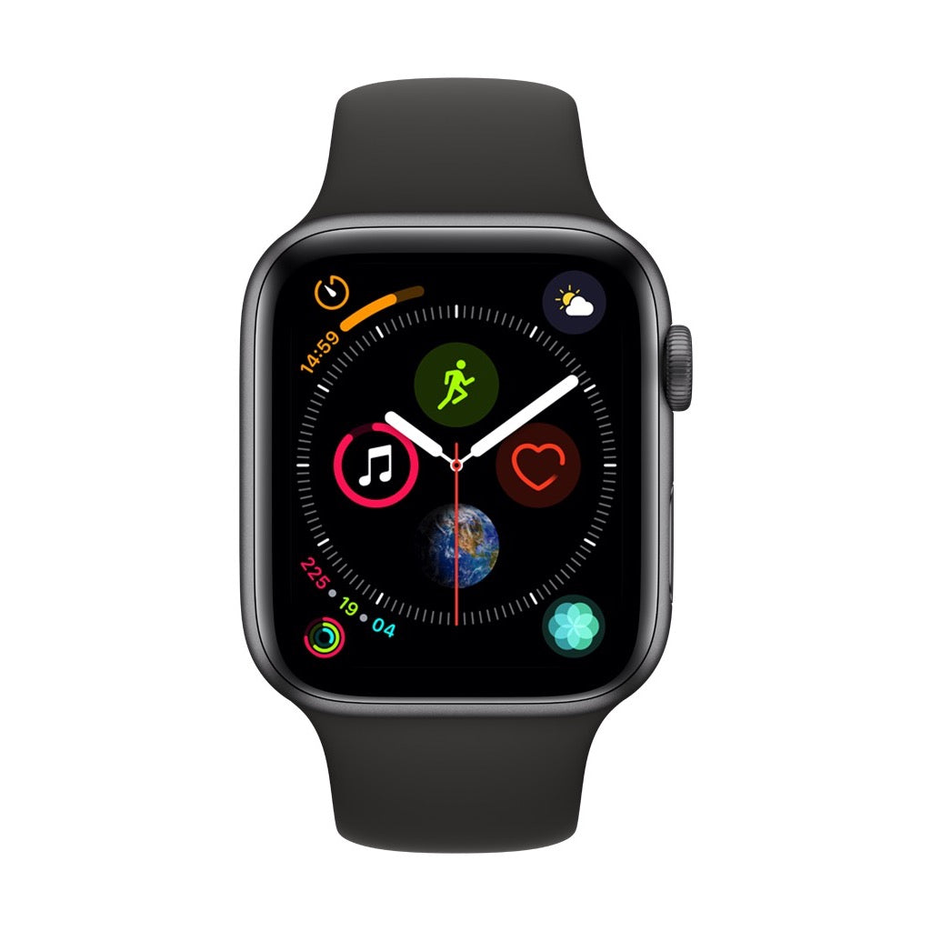Apple Watch Series 4 Space Grey Aluminum Case with Black Sport Band