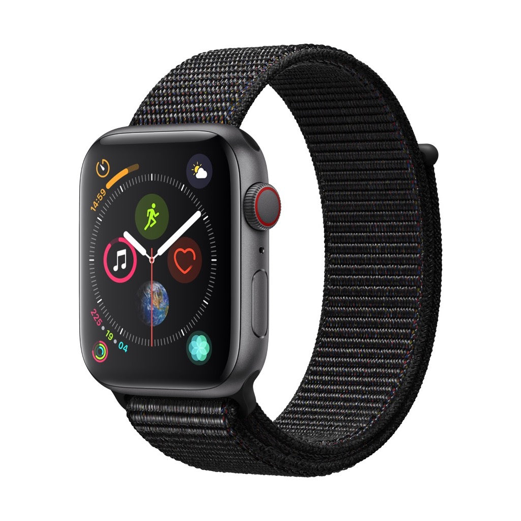 Apple Watch Series 4 Space Grey Aluminum Case with Black Sport Loop