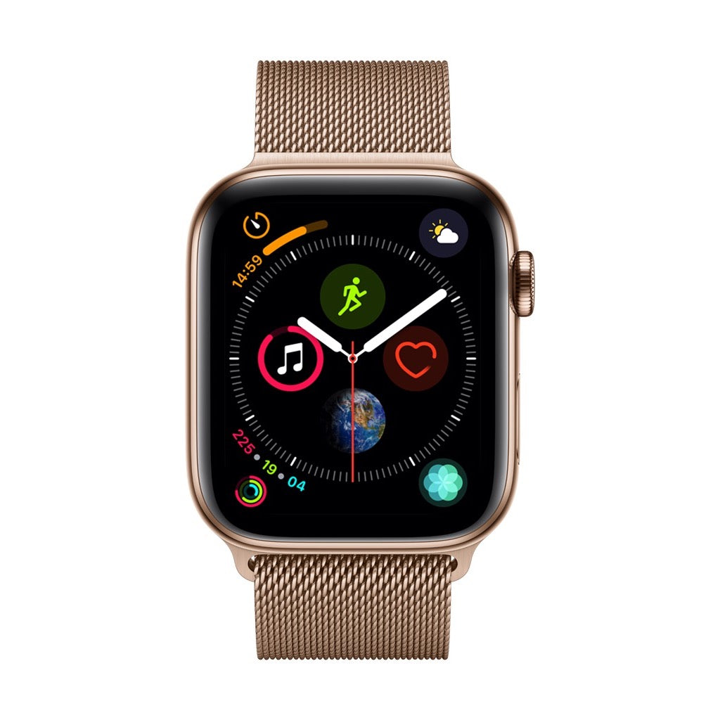 lowest price 42c09 a27c7 Apple Watch Series 4 Gold Stainless Steel Case with Gold Milanese Loop