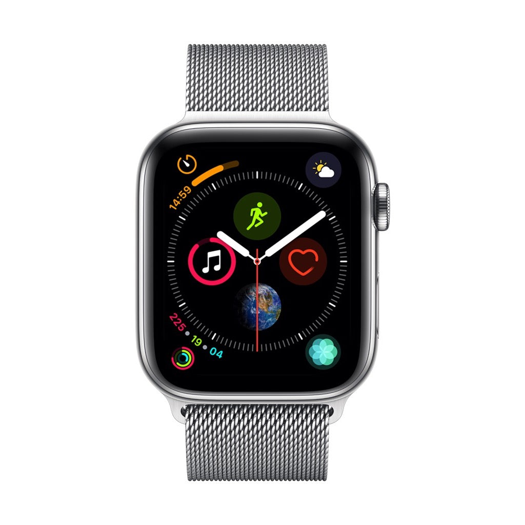 Apple Watch Series 4 Silver Stainless Steel Case with Silver Milanese Loop