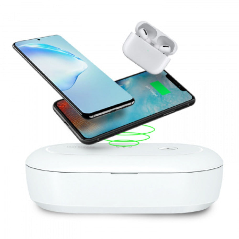 Adam OMNIA UVC+ Ozone Sterilizer Box with Fast Wireless Charger