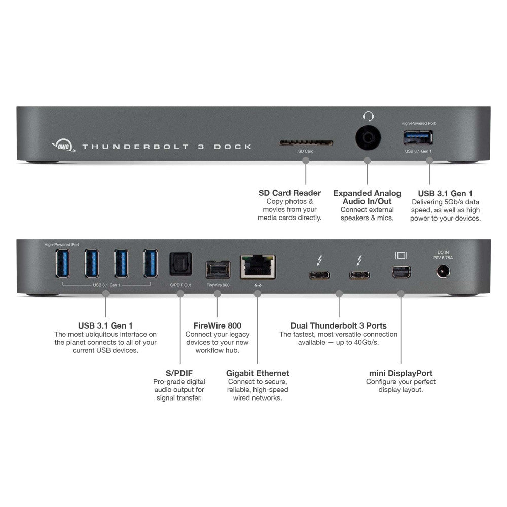 OWC 13-Port Thunderbolt 3 Dock
