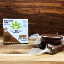 Load image into Gallery viewer, Full Spectrum Hemp CBD Chocolate Caramel Edible