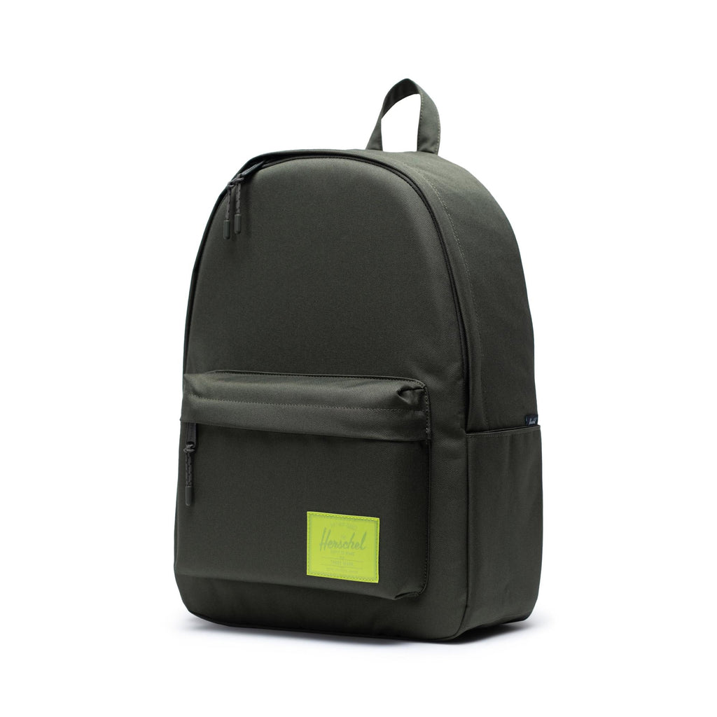 Herschel Classic XL - Dark Olive/Lime Green