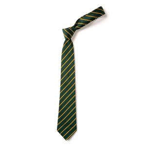 Green and Gold striped Tie 45""
