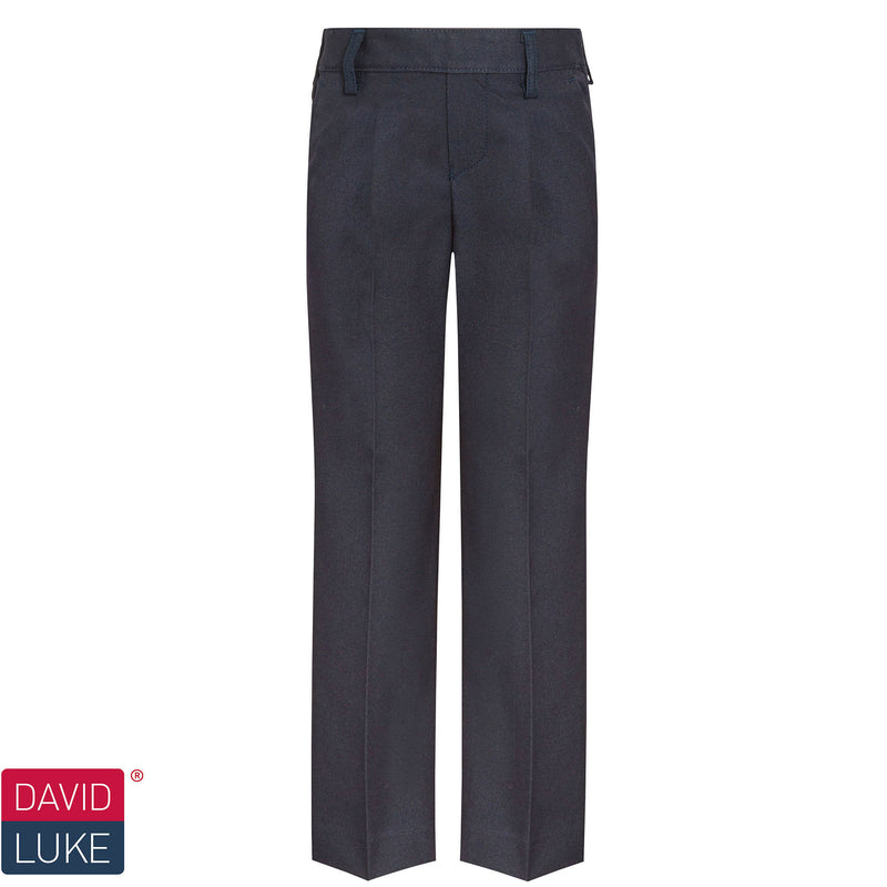 Navy Elastic Waist Trousers DL944