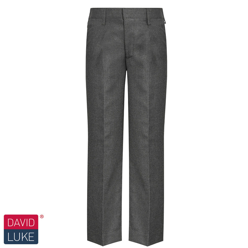 Grey Elastic Waist Trousers DL944