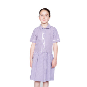 Purple Check Summer Dress