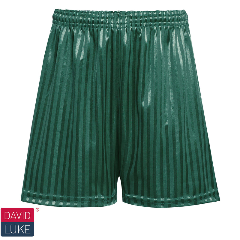 Bottle Green Shadow Stripe Shorts