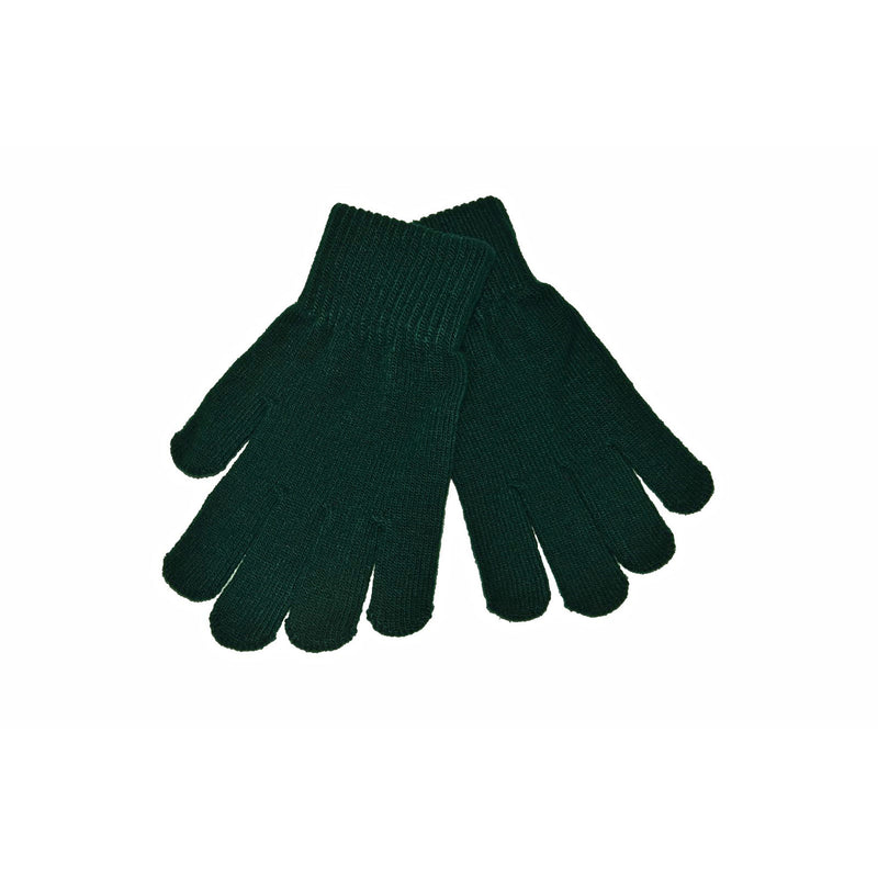 Bottle Green Knitted Gloves 'Stretch'