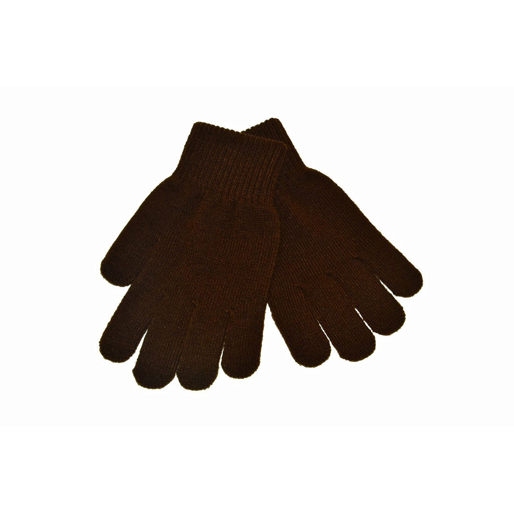 Brown Knitted Gloves 'Stretch'