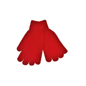 Red Knitted Gloves 'Stretch'