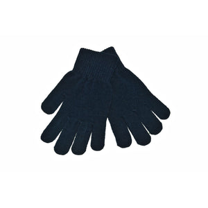 Navy Knitted Gloves 'Stretch'