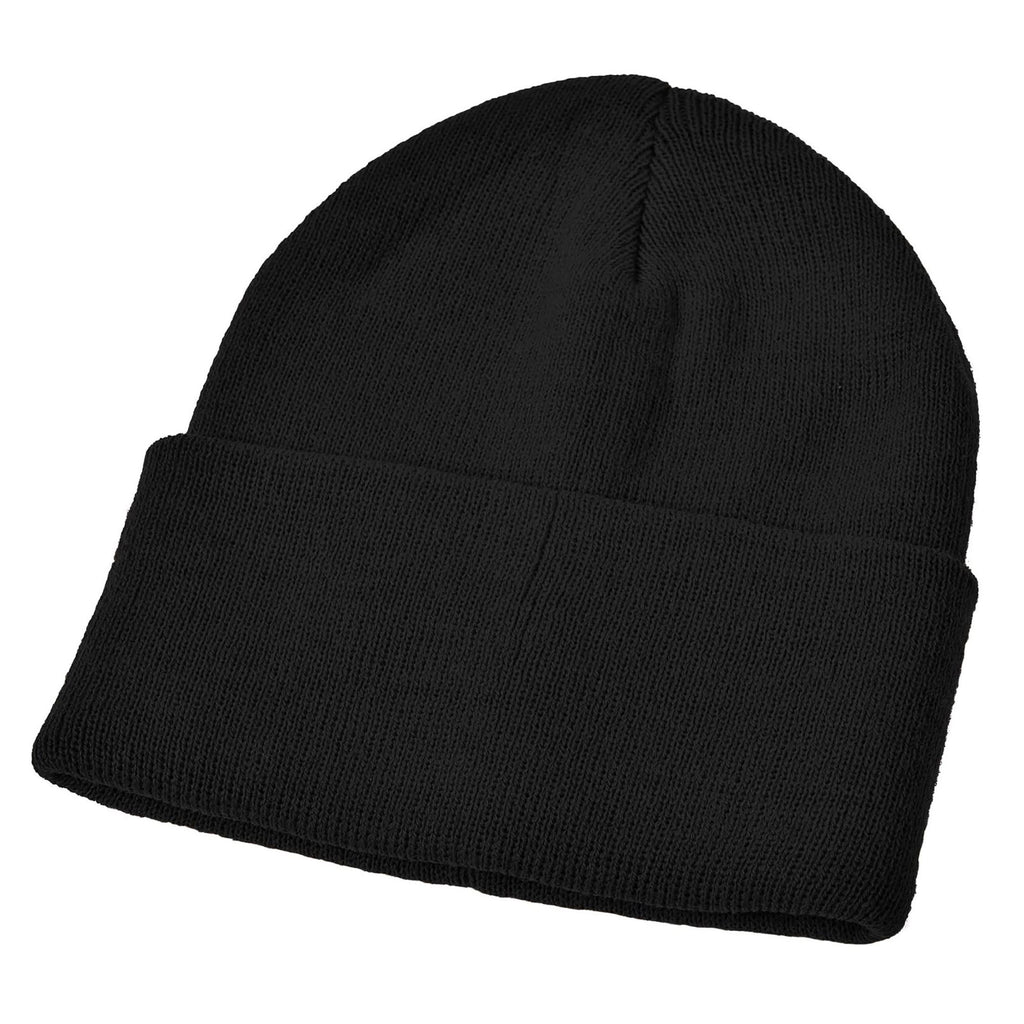 Black Acrylic Ski Hat