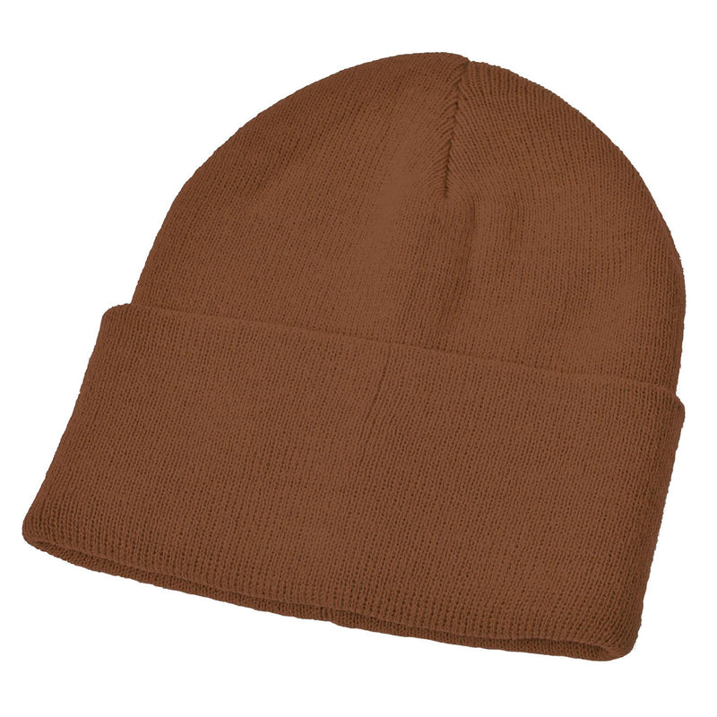 Brown Acrylic Ski Hat