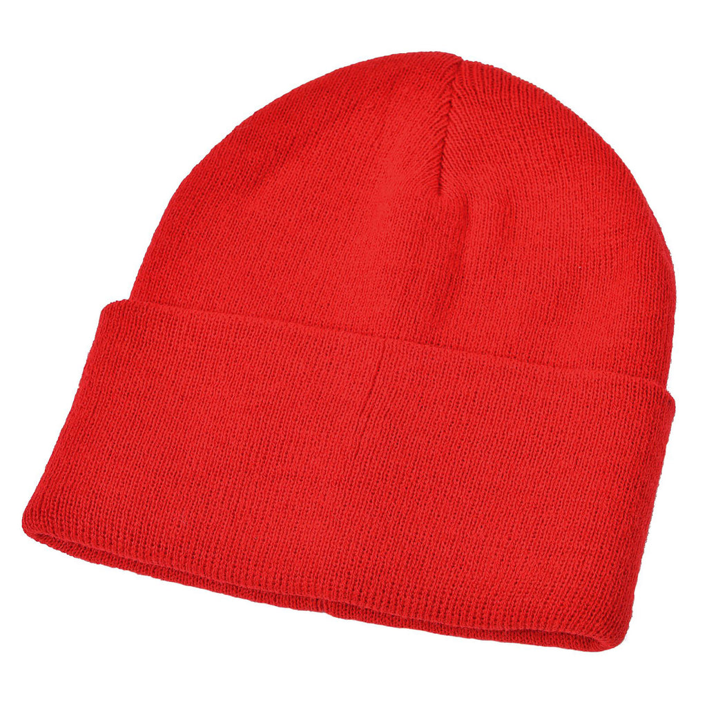 Red Acrylic Ski Hat