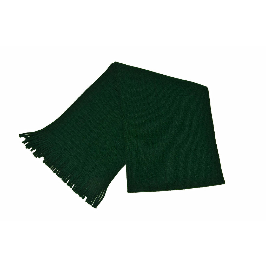 Bottle Green Acrylic Scarf