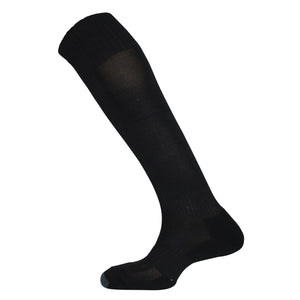 Plain Black Football Socks