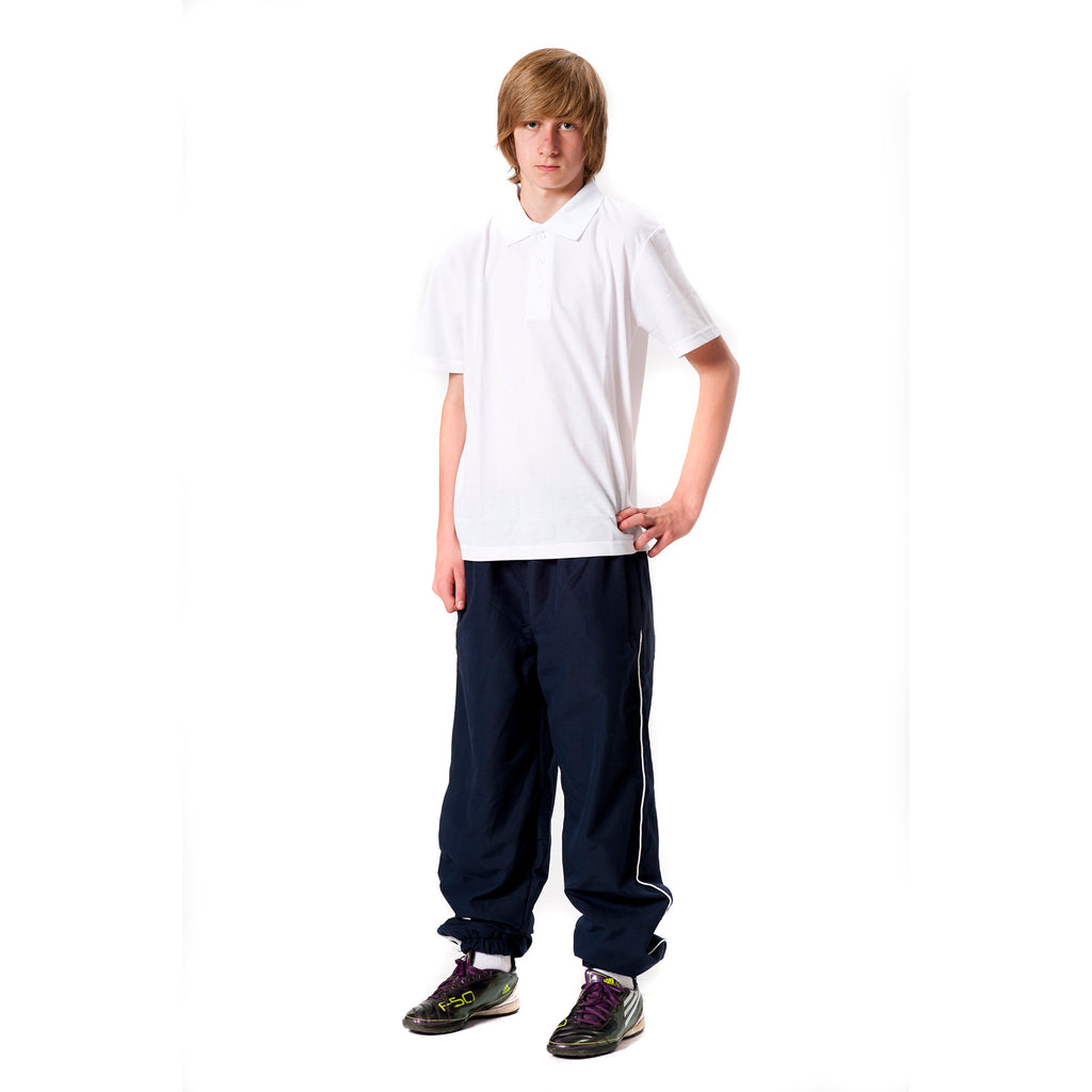 Tracksuit Bottoms Navy with White Piping