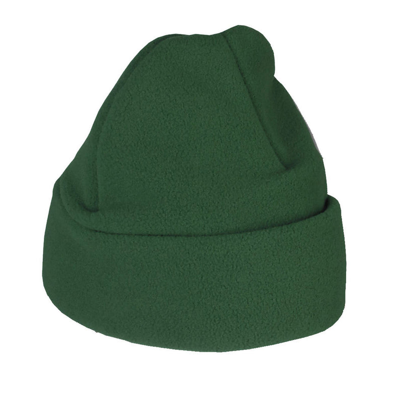 Bottle Green Fleece Ski Hat Standard