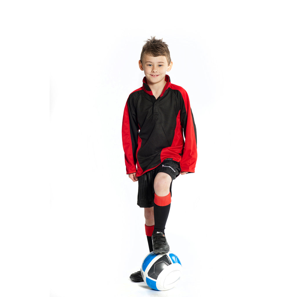 Black/Red Fully Reversible Sports Top