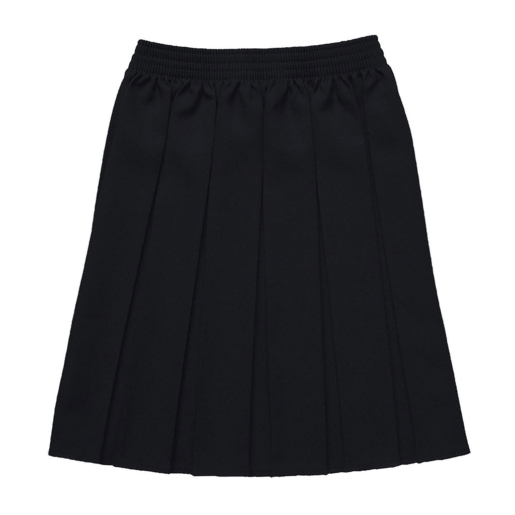 Black Junior Box Pleat Skirt