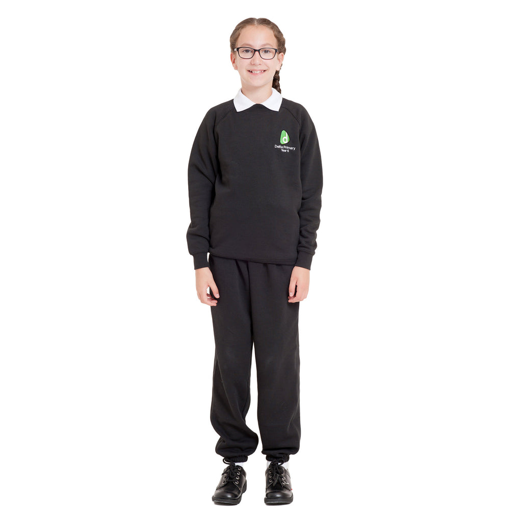 Delta Primary School Year 6 Sweatshirt Black