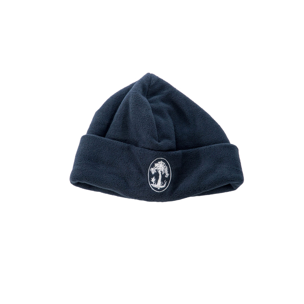 Devonshire House Navy Embroidered Fleece Hat