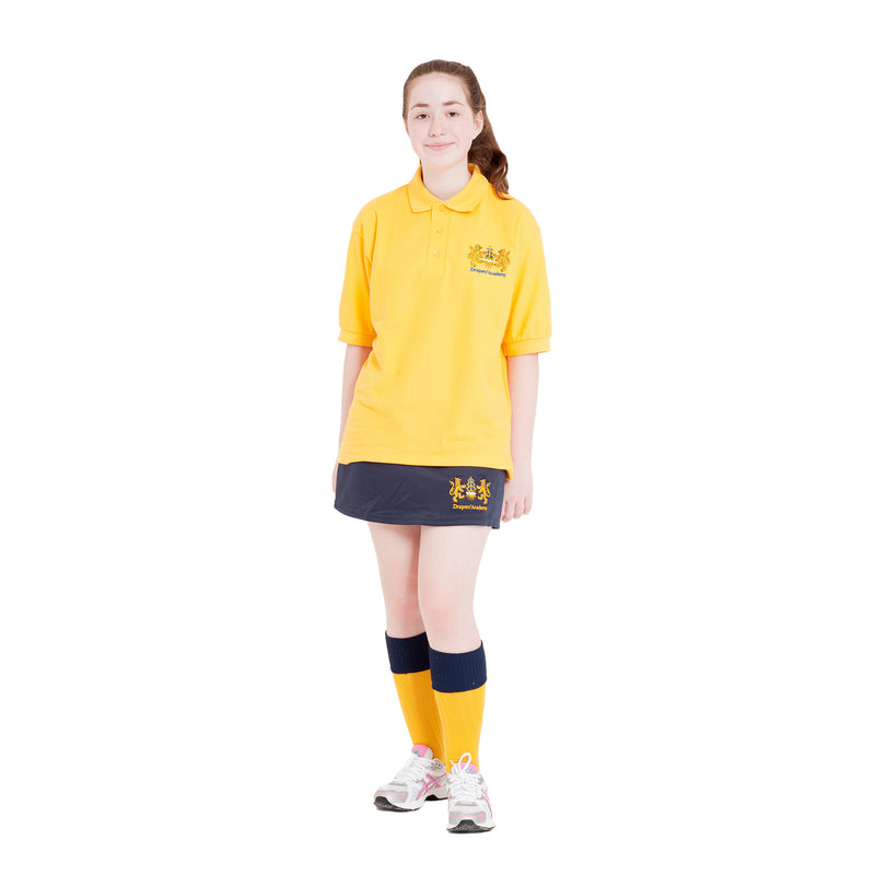 Drapers Academy Gold PE Polo Shirt